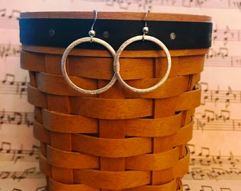 Simple Round Silver Earrings