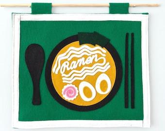 Favorite Food Flag - Ramen / Noodles / Japanese / Ramen Gift / Instant Noodles / Food Gift / Food Decor / Kitchen Decor / Foodie Gift