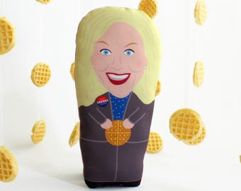 Leslie Knope Plush Doll / Parks & Rec / Parks and Recreation / Galentines Day / Vote Knope / Waffles / FREE SHIPPING through 2/14!