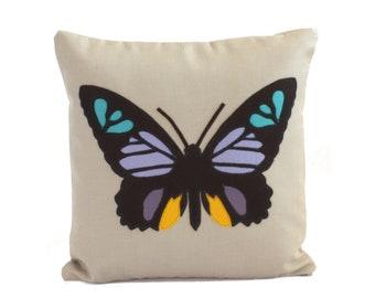 Science Diagram Pillow - Butterfly Pillow / Butterfly Gift / Butterflies / Butterfly Decor / Girls Room / Nursery / Butterfly Lover Gift