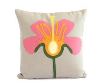 Science Diagram Pillow - Flower Anatomy / Flower Pillow / Botanical Pillow / Botanical Decor / Botanist / Gardener Gift / Horticulture Decor