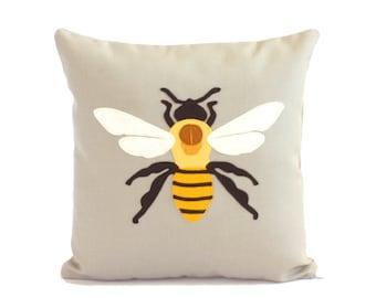 Science Diagram Pillow - Bee Pillow / Bee Lover Gift / Queen Bee / Honey Bee / Honeybee / Bumble bee decor / Insect / Entomology Gift