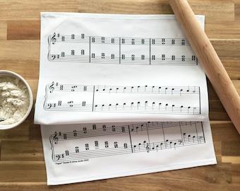 "Sheet Music ""Paper"" Towel - Decorative Tea Towel / Musician Gift / Music Gift / Music Teacher Gift / Music Decor / Piano Teacher Gift"