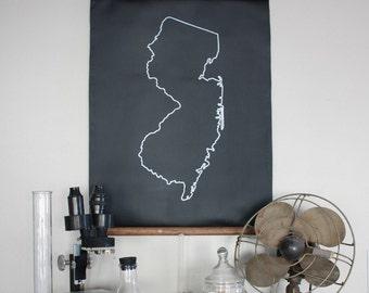 Chalkboard State Maps // Custom State Map Decor // 50 states // New Jersey // New Mexico // New York // North Carolina // North Dakota
