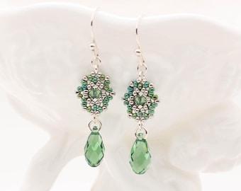 Ava Soft Green Drop Earrings