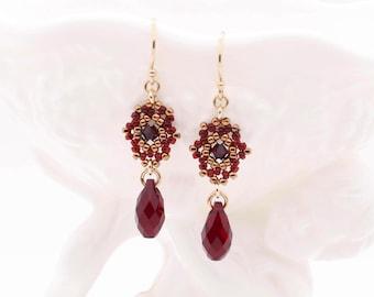 Holiday Earrings / Festive Christmas Earrings / Gift For Her / Cheerful Red - - - Kairi