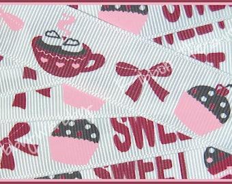 7/8 M2MG Sweet Treats Grosgrain Ribbon 5 Yards - TWRH