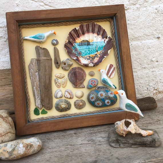 Brighton West Pier Beach Art Pebble Shell Driftwood Art In Etsy Such stones have been discovered by archaeologists in both britain and egypt. etsy