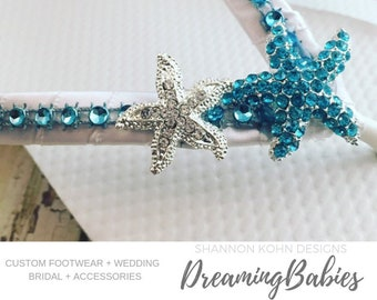 5c6ed34920b0 Marissa Aqua Starfish Bridal Flip Flops