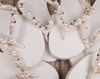 993f936b8d765b Wilomena Pearl Cluster Bridal Flip Flops