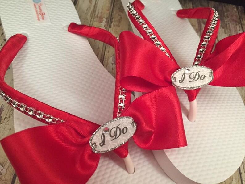 7046f77b0e5aec I Do Bridal Flip Flops Custom Bride Sandals for Destination