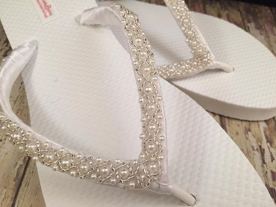 705fb1651aaa6 Emma Bridal Flip Flops Custom Flip Flops Dancing Shoes Beaded