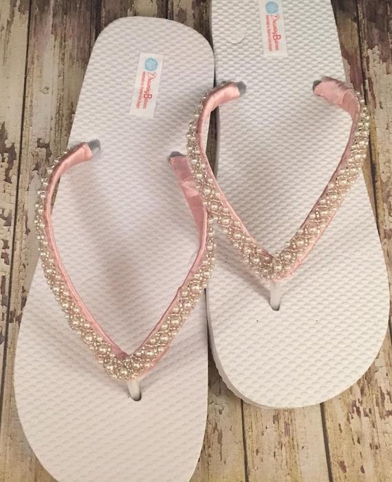 b81ef91f513947 Emma Bridal Flip Flops Custom Flip Flops Dancing Shoes Beaded
