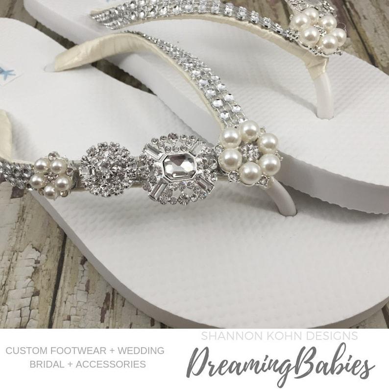 Wedding Flip Flops.Rhinestone Bridal Flip Flops Custom Crystal Shoes Jordan Bling Bride Sandals For Destination Wedding Shoes Custom Color Your Choice