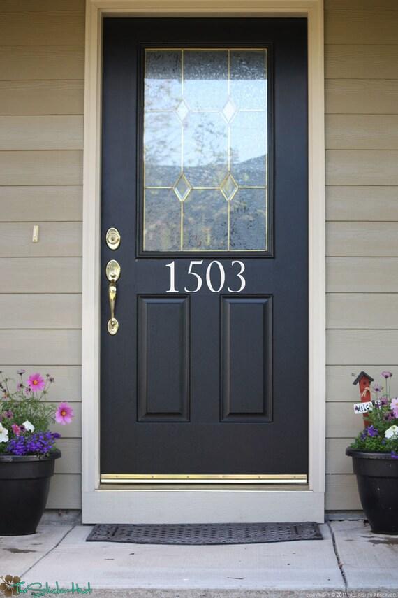 House Numbers Front Door Custom Wall Stickers Vinyl | Etsy