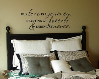 Our Love is a Journey - Wall Decals - Vinyl Lettering - Home Decor Decals - Quote Saying Vinyl Wall Art Lettering Decals Stickers 491