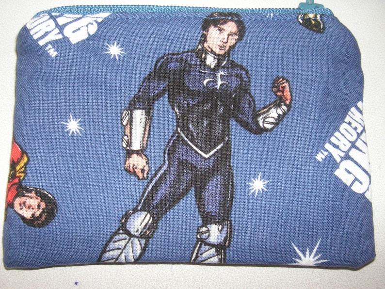 Big Bang Theory TV handmade fabric coin change purse zipper pouch