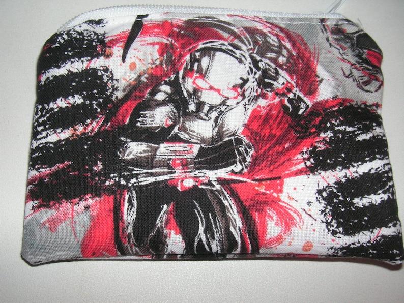 Ant Man marvel comic handmade fabric coin change purse zipper pouch