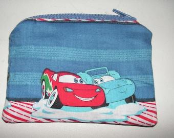 Disney Cars Lighting McQueen Sally handmade zipper fabric coin change purse