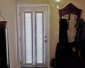 Door Panels / Custom Foyer Rod Pocket Front/ Entry Door Panel U0026 Side Light/ Sidelight  Panels   French Door Curtains