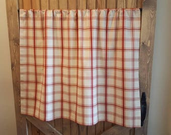 red plaid kitchen cafe curtains country curtains kitchen valance 2 panels 1 pair matching valance available waverly pantry plaid - Kitchen Cafe Curtains