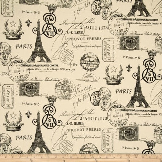 Black Paris Kitchen Cafe Curtains   2 Panels/ 1 Pair   Custom Sizes And  Matching Valance Available   Premier Prints French Stamp Fabric
