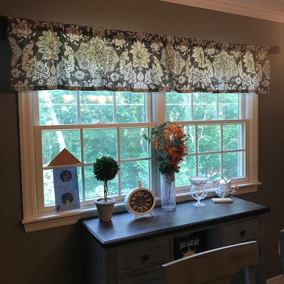 Grey Farmhouse Valance 50 X 16 Magnolia Home Etsy