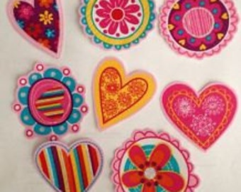 Large Colorful Medallions Iron On Fabric Appliques Patches