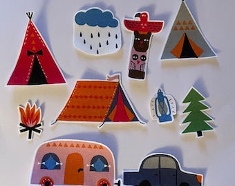 Campsite Patches - Iron On Fabric Appliques