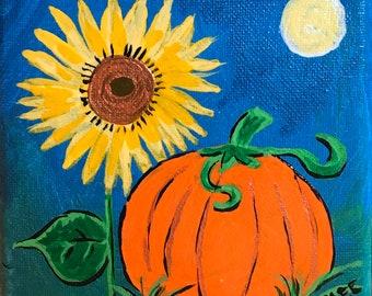 "Choose a Tiny Fall Painting - 6"" x 6"" Original Art on Canvas"
