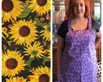 Perfect for Fall Sunflower Apron - Sally's Simple Aprons - Handmade, Machine Washable
