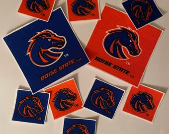 Boise State Broncos - Iron On Fabric Appliques - 10 Sports Patches