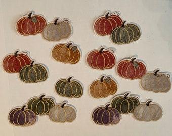 Tiny Pumpkins - Iron On Fabric Appliqués