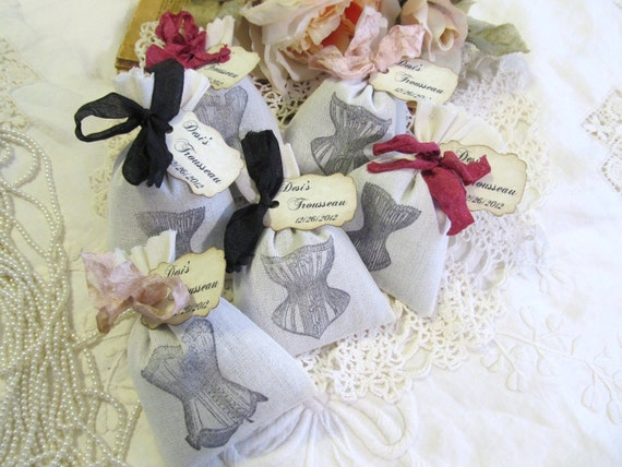 lingerie party favor vintage corset lavender mini sachet etsy. Black Bedroom Furniture Sets. Home Design Ideas
