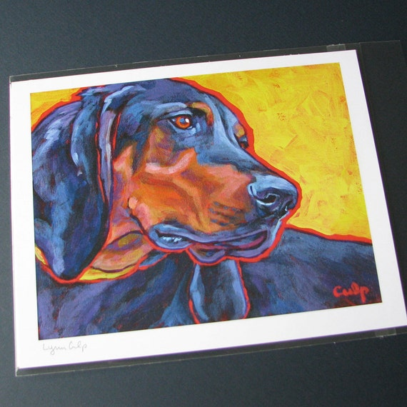 IRISH WOLFHOUND Dog 8x10 Art Print by Lynn Culp