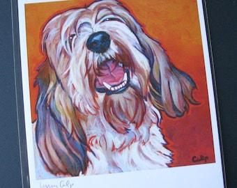 PBGV Petit Bassit Griffon Vendeen 8x10 Dog Art Print  by Lynn Culp