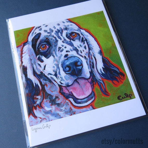 """German Pointer /""""Rules/"""" Dog Art Print Matted"""
