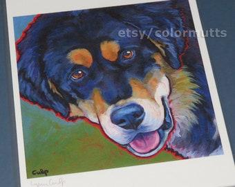 TIBETAN MASTIFF Dog Art 8x10 Signed Print from Painting by Lynn Culp