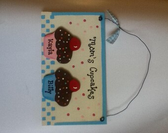 Cupcake Wall Hanging - Personalized - Mom's Cupcakes