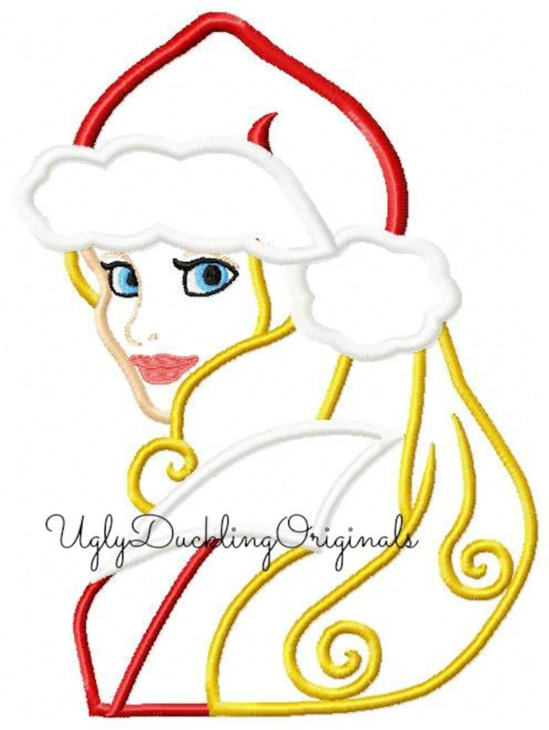 c6ea55c6af2ab Aurora Princess Santa Hat Christmas Original Artwork by