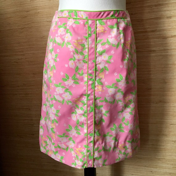 Vintage 1960s Lilly Pulitzer Skirt / Preppy Pink &