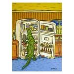 Alligator Raiding the Fridge Art Print