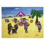 Javelina Beach Party Cook Out Art Print   JSCHMETZ modern abstract folk pop art AMERICAN ART gift