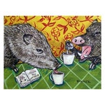 Two Javelina at the Coffee Shop Art Print