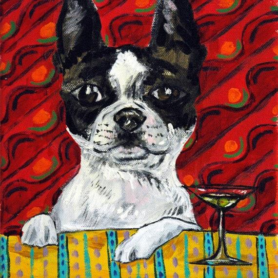 cairn terrier dog art print on tile gift JSCHMETZ modern folk art BATHROOM