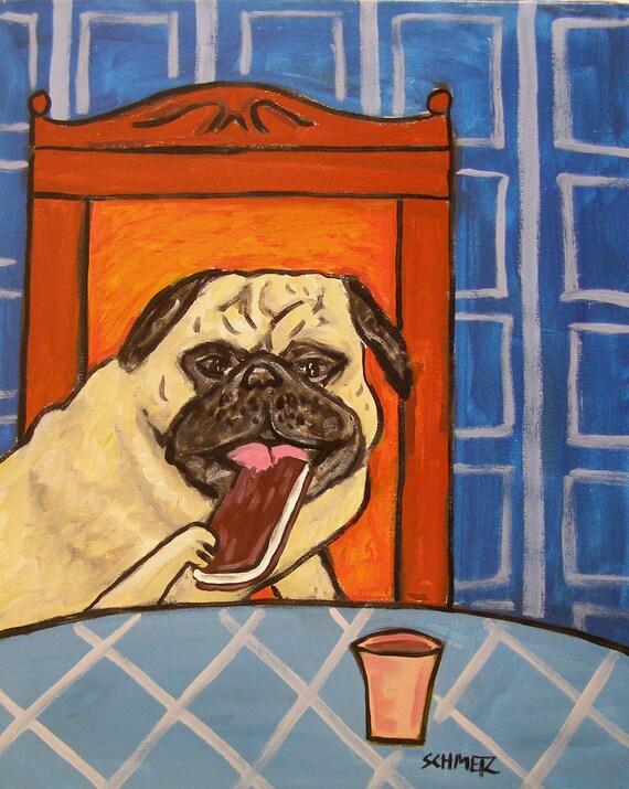 SEALYHAM TERRIER dog art bathroom   prints animals impressionism 11x14