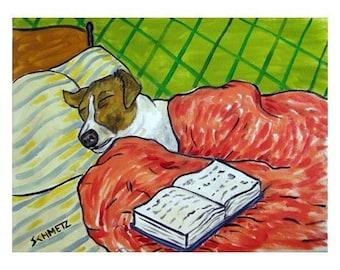 Jack Russell Terrier Sleeping Art Print