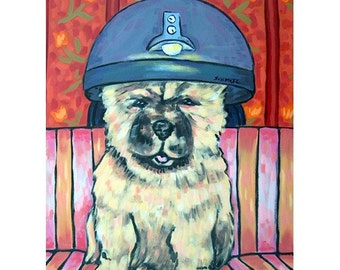 Chow Chow at the Salon Dog Art Print