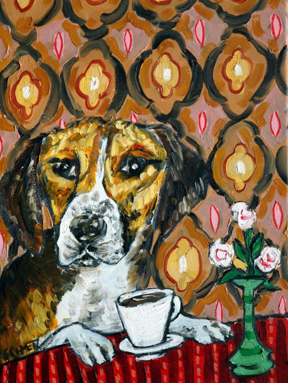 BOXER WINE picture ANIMAL dog art print  13x19 artist animals gift new