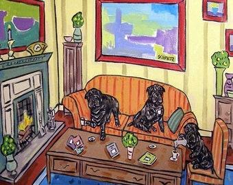 25% off Shar Pei Tea Party Dog Art Tile Coaster